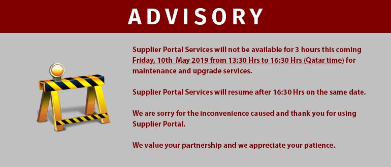 Qatar Steel » Supplier Portal